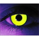 Rave Yellow Glows Under Blacklight Contact Lenses